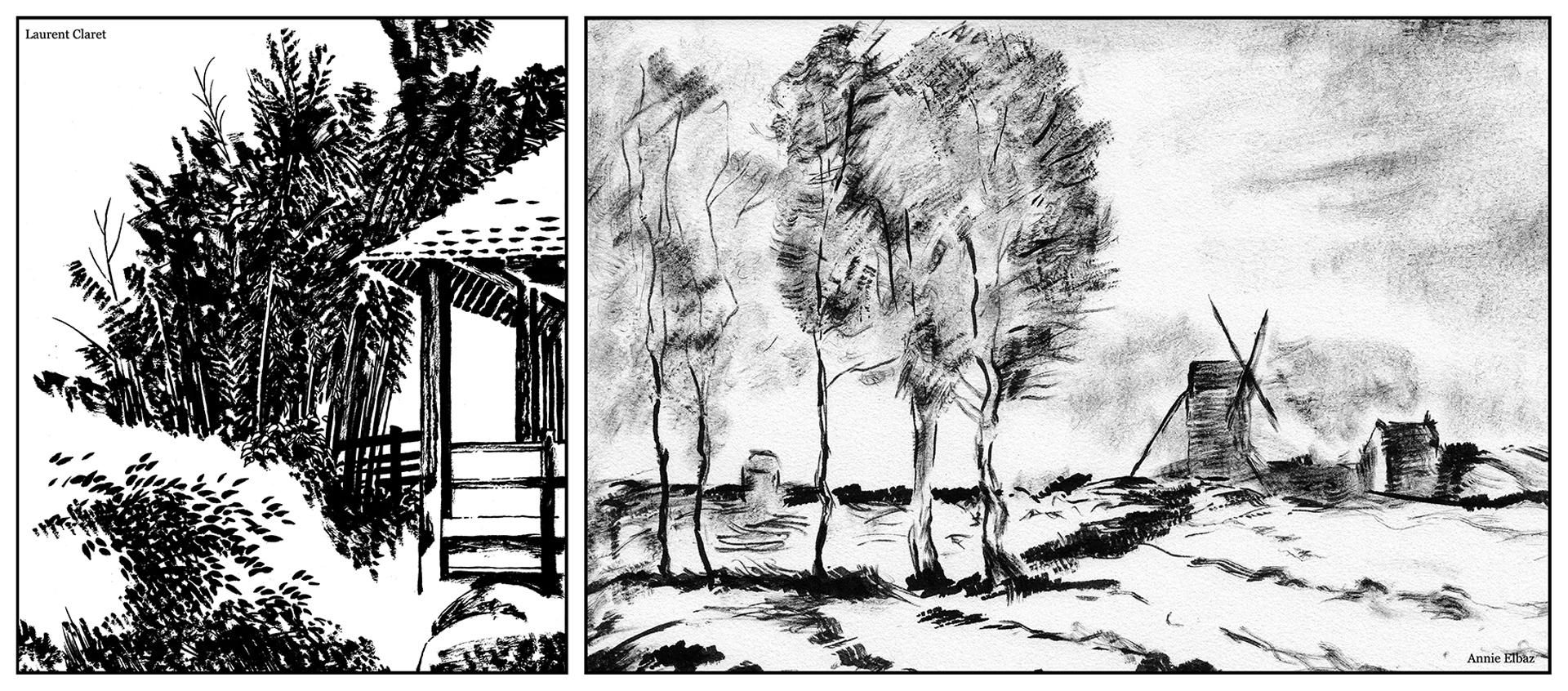 Atelier encadré «Le paysage à la brosse sèche» animé par Laurent Claret