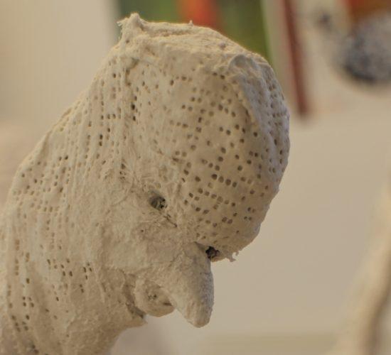 Retour sur l'atelier «Volume – d'après l'Homme qui marche de Giacometti» animé par Claire Journer samedi 14 mars 2020