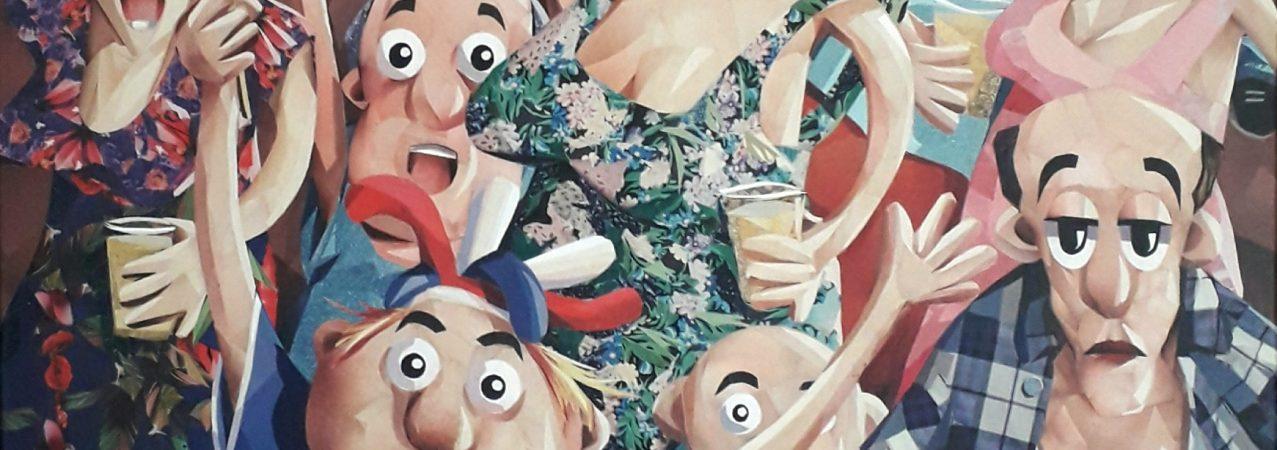 Retour sur l'atelier «Le collage comme une autre manière de peindre» animé par Laurent Maligoy samedi 18 janvier 2020