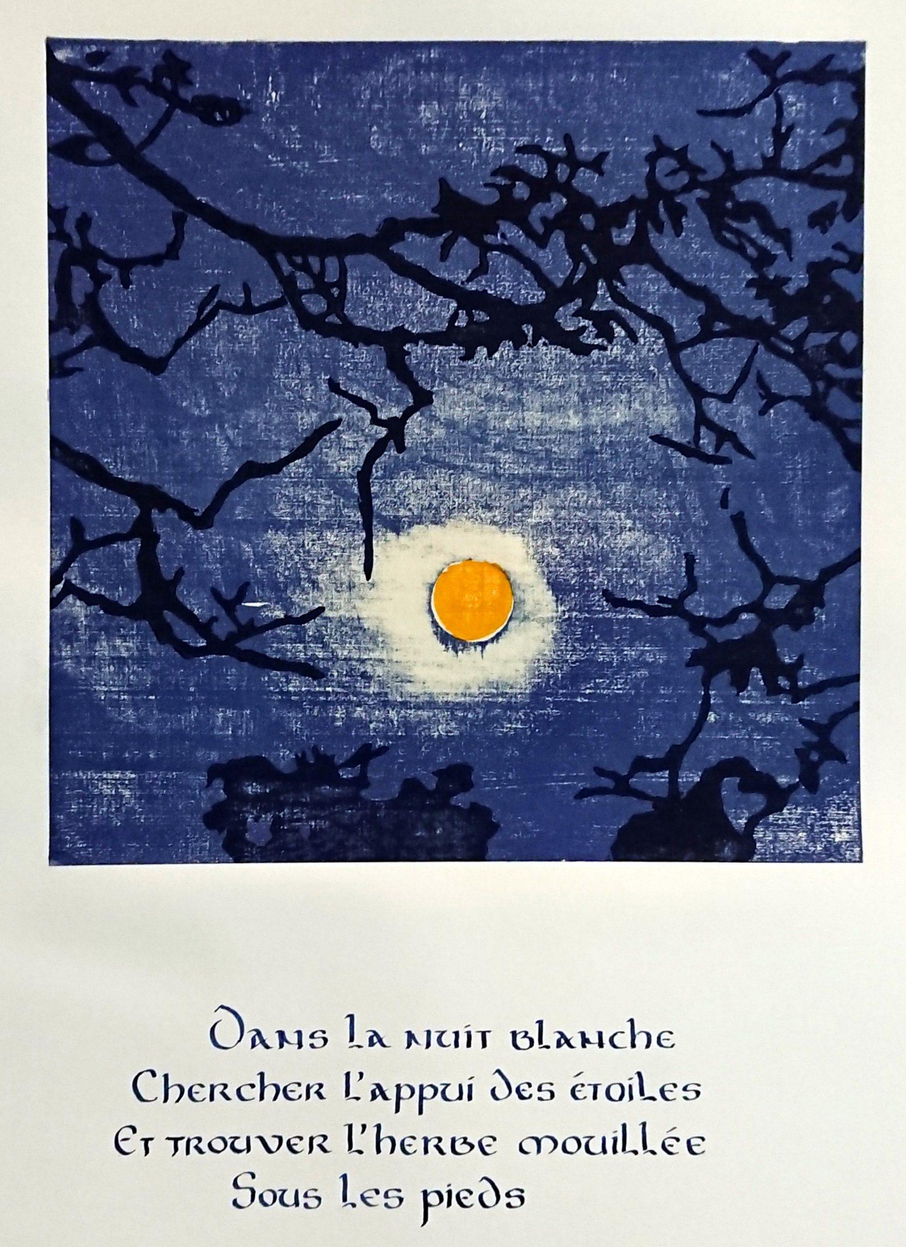 à la lisière – estampes et poèmes calligraphiés de Claudine Valette et Odile Teulières