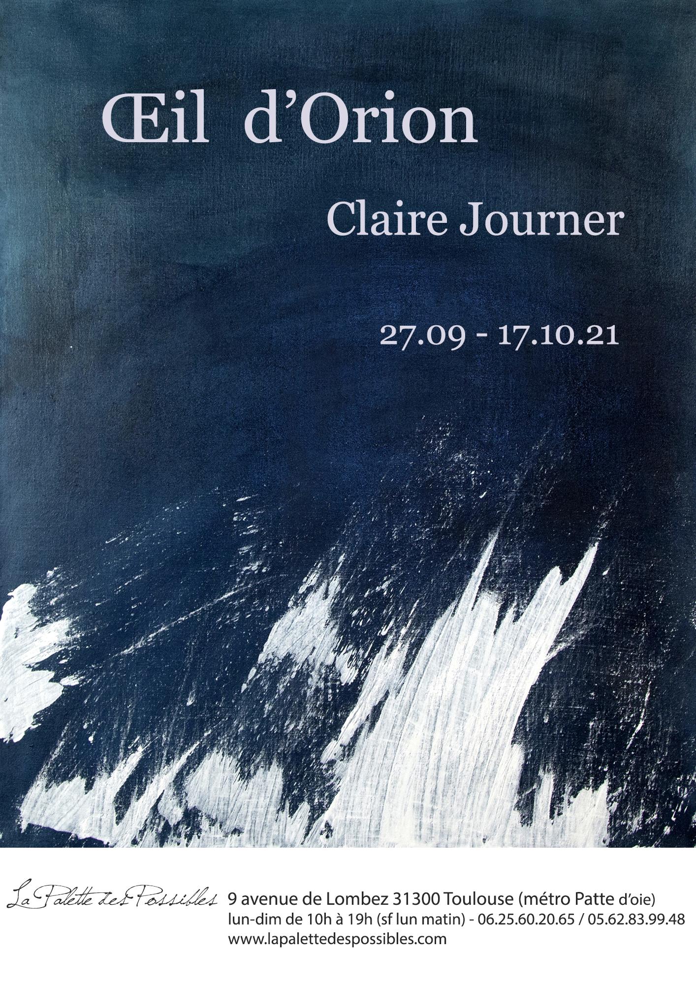 OEil d'Orion – Claire Journer